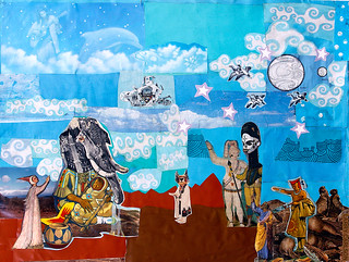 LARRY CARLSON, collage and paint on paper, 16x20in., 2013.