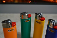 An Addiction (foanmoan) Tags: colors colorful dad cigarette smoking lighters lighter addiction bic tabacco multiplecolors