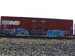Melvin Begr Blief (VDub (o\I/o)) Tags: california ca railroad west art up metal yard train graffiti paint pieces pacific ns steel painted union norfolk central tracks railway trains tags spray mel southern railcar valley bayarea unionpacific service spraypaint boxcar panels graff piece melvin aerosol streaks northern tagging freight boxcars upac ridged trackside csx freights ttx rbox railart piecing railbox monikers railside sopac goldenwestservice benching blief melvy fbox