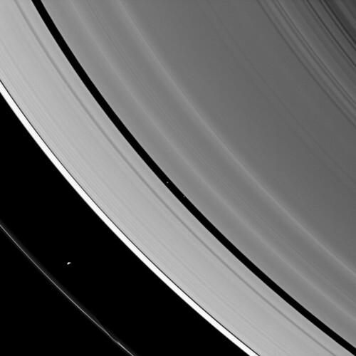 Saturn's Moons at Work