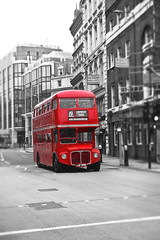 The Old Number 19 (Jamie Frith) Tags: blackandwhite bus london miniature nikon piccadillycircus d800 selectivecolour