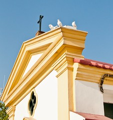 Guardians of the cross (Howard Yang Photography) Tags: church birds 35mm nikon cross macau doves macao  autofocus nikond90 flickraward mygearandme ringexcellence blinkagain
