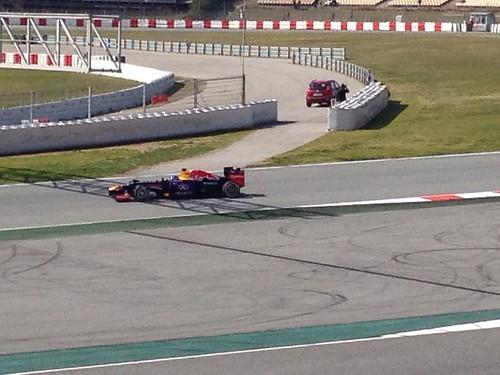 Sebastian Vettel in F1 Winter Testing 2013