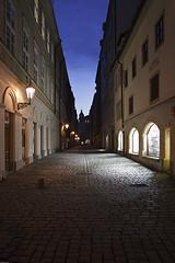 Old Town street (Pavel Vanik) Tags: street city sunset architecture night canon evening republic czech prague empty prag praha 7d 1750is