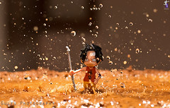 Monkey d luffy  on water (Gulfu) Tags: anime macro water night speed canon photography monkey drops mud flash muddywater 7d onepiece tamron 90mm luffy artphoto nami fastshutter japantoys triger gulfu dluffy bestofanime prasanthgulfu amazingwaterdropphotos bestofdrops