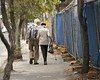 Walking my baby back home (Salle-Ann) Tags: bag walking togetherness couple walkingstick backpack oldercouple instep elderlycouple takingastroll dailyexercise