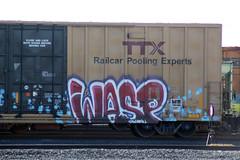 03_11_2013 022 (CONSTRUCTIVE DESTRUCTION) Tags: train graffiti wasp streak tag boxcar graff piece