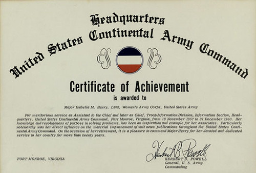 Flickriver Most interesting photos tagged with isabellahenry – Army Certificate of Achievement Template