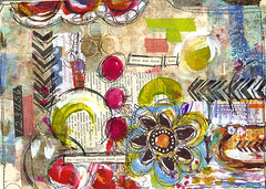 (Roben-Marie) Tags: mixedmedia circles painted mailart inked layered collaged filefolder doodled robenmarie