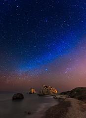 A way to the Milky... (tomasz.cc) Tags: longexposure sea sky rock night stars star nikon cyprus astro astrophotography aphrodite gazing milkyway aphroditesrock tomasz petratouromiou cypr huczek tomaszcc