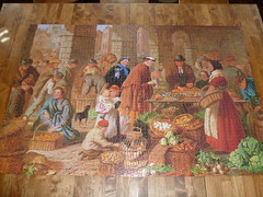 """""""Market Day"""" Progress #4 (Billsville Mike) Tags: old england day market c games puzzle h jigsaw piece bryant rare completed 4000 waddingtons"""