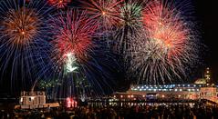 night rainbow (dtsortanidis) Tags: carnival sea sky people night port photography fireworks greece burning fest dimitris patra dimitrios 2013 πατρα καρναβαλι canon5dmarkii tsortanidis dtsortanidis