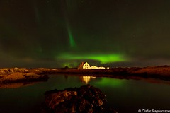 Straumur (.Gu) Tags: nature water stone night waterfront nightshot oldhouse aurora waterblur sjr auroraborealis steinar ntt nordlys strnd northenlights straumur speglun norurljs straumsvk nturmynd gu ogud nightimagen olafurragnarsson lafurragnarsson