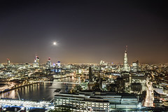 London (odin's_raven) Tags: city urban moon london rooftop night lights nikon cityscape nightshot exploring explorer urbanexploration lighttrails exploration urbanexploring ue cityoflondon urbex nikor