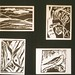 4 Woodcut Cards