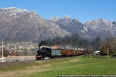Il grande ritorno (Elmeon) Tags: train railway zug bahn stazione treno carri lecco fs speciale storico ferrovia 880 051 locomotiva passeggeri vapore rfi carrozze dgeg albate