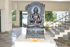 Gouthama Buddha Siddhartha Statue SSIT Tumkur (SSIT360) Tags: night technology library central m institute sri h national conference scholar 2012 siddhartha buiding tumkur ssit ncns gangadharaiah