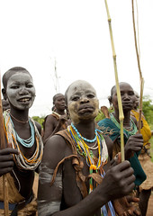 Suri Women With Stretched Lip, Kibbish Village, Omo Valley, Ethiopia (Eric Lafforgue) Tags: africa people woman colour vertical female outside outdoors person women artistic femme ornament omovalley bodypainting ethiopia tribe rite surma personne humanbeing femmes contemplation adornment afrique pigments tribu dehors omo eastafrica suri abyssinia ethiopie exterieur lookingatcamera traditionalclothes waistup abyssinie vueexterieure coloredpicture photocouleur kibish afriquedelest nomadicpeople surmatribe alataille etrehumain habittraditionnel suripeople valleedelomo peuplenomade regardantlobjectif kibbish peoplesoftheomovalley surmapeople peuplesdelavalleedelomo tribudessuri suritribe tribudessurma peuplesuri peuplesurma colouredpicture cadragealataille villageofkibish villageofkibbish villagedekibish villagedekibbish peupledepasteurs pastoralistpeople ethiopia3075