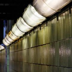 grünes Leuchten (grapfapan) Tags: berlin green station neon kacheln fliesen lamps grün sbahn gwb lampen guessedberlin gwbatomhirsch
