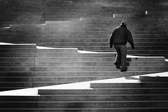 Up (. Jianwei .) Tags: street light shadow urban up vancouver stairs geometry candid zigzag backview robsonsquare a55 kemily tgam:photodesk=sports2013 2013syzy