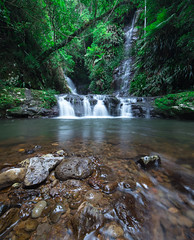 Elabana Falls, Lamington National Park (sandynfowler) Tags: longexposure oreilly nature water forest landscape waterfall rainforest wide australia wideangle queensland goldcoast lamingtonnationalpark springbrook hinterland landscapephotography oriellys elabanafalls canon6d rocksgreen
