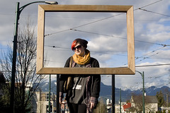 ever since I put your picture in a frame (gunstreet.girl) Tags: street selfportrait streetart mountains art me vancouver 365