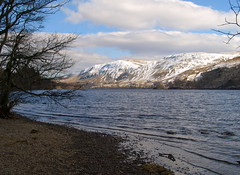 Shoreline at Ullswater (Tony Worrall) Tags: wood uk winter england sky white lake snow cold tree ice water beauty clouds season landscape spring nice day waves tour natural snowy seasonal north lakedistrict scenic natura scene tourist freeze cumbria ripples icy chill cumberland thelakes 2013tonyworrall