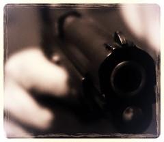 Encounter with a 9 mm Baretta (posterboy2007) Tags: gun weapon pistol piece handgun 9mm semiautomatic baretta