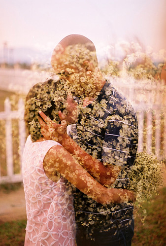 Double Exposure Kiss