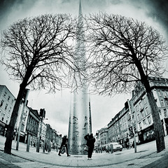 conspire (fotobananas) Tags: ireland dublin pen streetphotography olympus spire walimex ep1 fotobananas snapseed