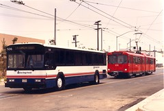 Bus & Trolley, 1980s (SDMTS) Tags: train u2 sandiego metro trolley siemens tram transit lightrail phantom streetcar gillig lrt mts lrv sandiegotrolley metropolitantransitsystem siemensduewag