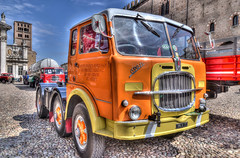 DSC_8689_90_91HDR (bornin78) Tags: old travel italy colors car truck nikon wheels transport camion civil transportation mantova historical 18200 hdr mantua photomatix d7000