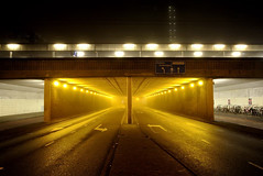 (Farlakes) Tags: mist fog night leiden tunnel farlakes