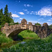 Pavlovsk. Old Bridge over Slavyanka River.