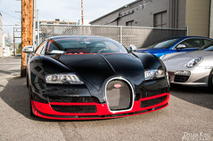 Bugatti Veyron Grand Sport Vitesse (Dylan King Photography) Tags: red canada black sport vancouver lights nikon bc interior tail wheels grand super columbia headlights chrome british rims bugatti lamborghini dealership w16 gril intake veyron vitesse d90 1200hp 18105mm engince