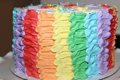 rainbow birthday cake #1 - side (mommyneedsahobby) Tags: birthday cake rainbow birthdaycake rainbowcake kidscake
