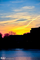 Sunset silhuette of Toulouse