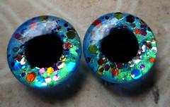 """Carnival Confetti"" - new custom Blythe eyechips"