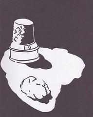 (Bvera) Tags: art paper construction melting hand made negativespace icecream cutting positive constuctionpaper