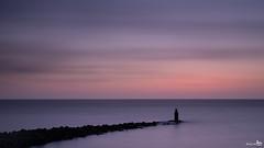 North Sea (BraCom (Bram)) Tags: longexposure sunset holland clouds canon zonsondergang widescreen horizon nederland thenetherlands noordzee wolken pole le northsea 169 ouddorp breakwater zuidholland goereeoverflakkee paal southholland langesluitertijd strekdam canonef24105mm nd110 110nd bracom bw110endgrey canoneos5dmkiii bramvanbroekhoven