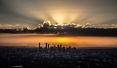 Good morning Brisbane (AliJN) Tags: morning sun clouds sunrise canon cityscape 55mm independenceday mountcoottha mtcoottha 1755mm 60d thealiensarecoming