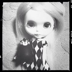 black and white. #blythe #blythedoll