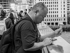Icecream (Jrg Jger) Tags: london black white bridge ice man street photography