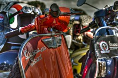 150 Sport (Steve.T.) Tags: scooter vespa vespa150sport weeley essex mod modculture modernism red headset helmet nikon d7200 handlebars motorcycle chrome shiney roadzsta4