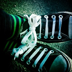 Converse and Stripes Socks (WatermelonHenry) Tags: rubbertoe laces converseallstars converse chucks chuck taylor socks stripes green feet pumps trainers allstars