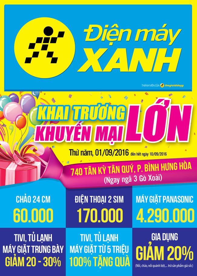 Khai trương siêu thị Điện máy XANH Tân Kỳ Tân Quý, HCM