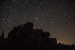 Vedauwoo Night 1 (PhotoStorm22) Tags: wy wyoming vedauwoo stars night sky rock rocks rockformation rockformations clamshell