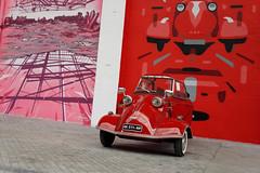 De rose et de rouge (Waves Of 64) Tags: streetart colorama biarritz street art paint urban messerschmitt kr175
