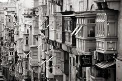 Balconies (albireo 2006) Tags: balconies valletta malta blackwhitephotos blackandwhite blackandwhitephotos blackwhite bw