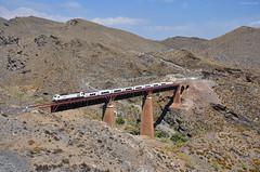 Talgo. Viaducto de Gergal (rapidoelectro) Tags: talgo 334 almeria madrid gergal renfe largadistancia grandeslneas puente desierto viaducto tabernas western almera linares lnea
